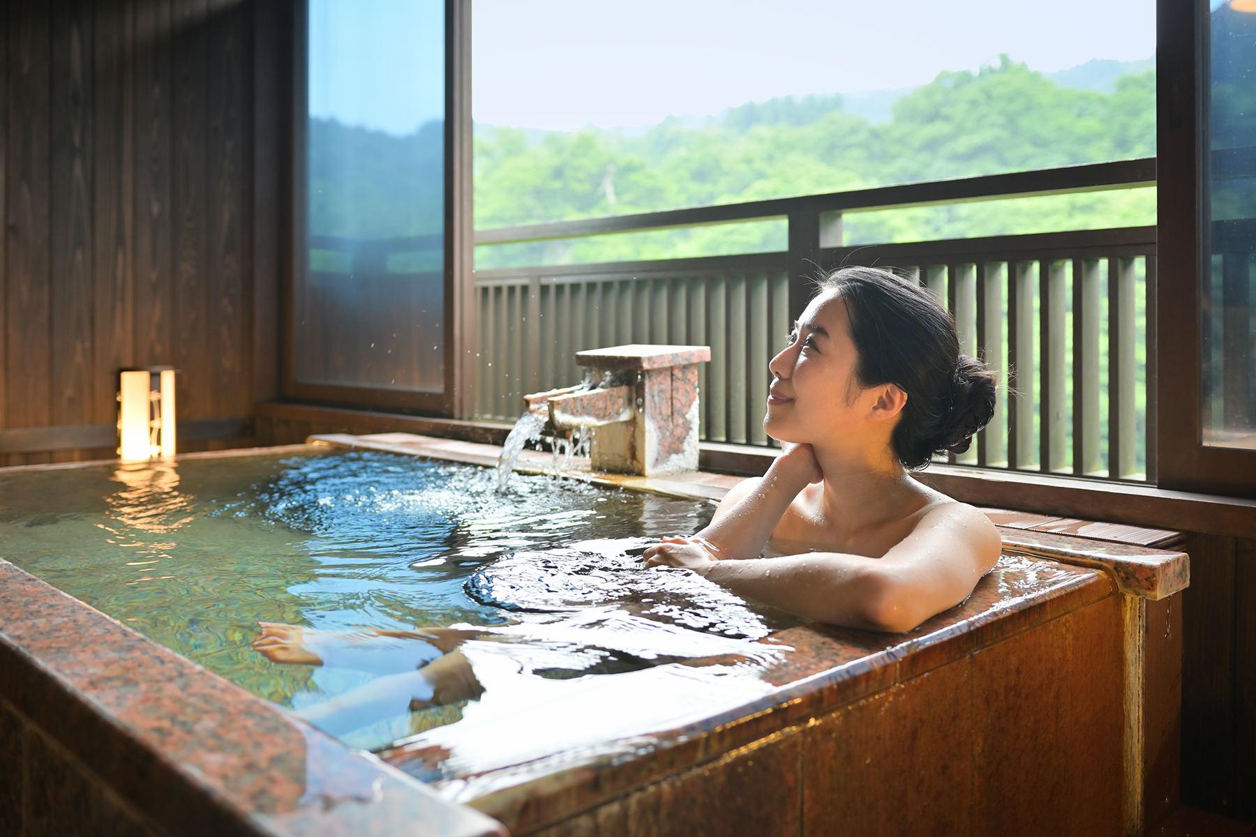 春蘭の二階露天風呂